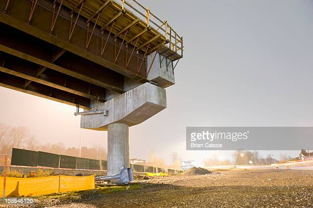 A freeway over pass under construction