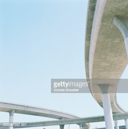 Freeway overpasses, low angle view