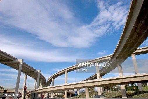 Freeway ramps at qn interchange