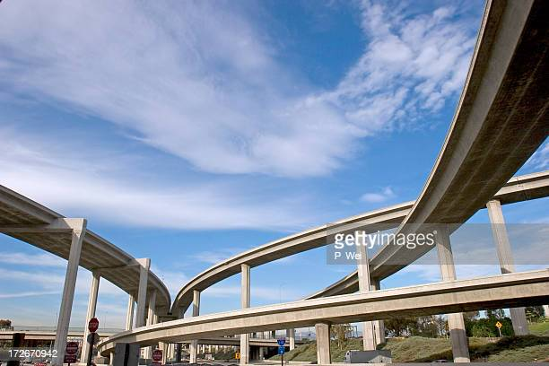 Freeway ramps at qn interchange