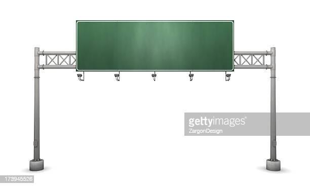 Freeway sinal em branco