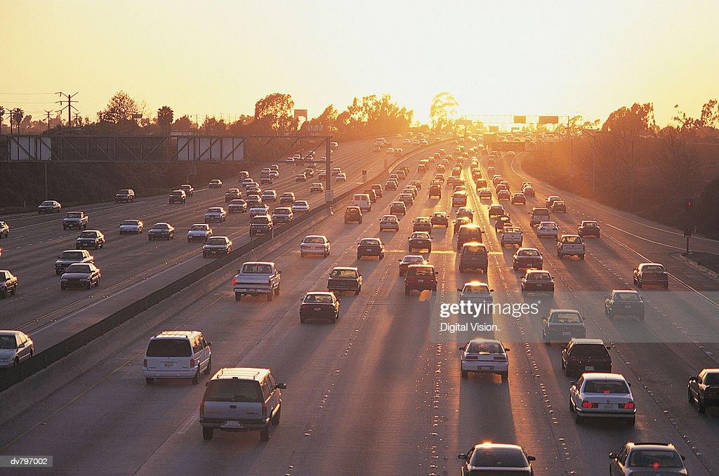 Freeway Traffic : Stock Photo