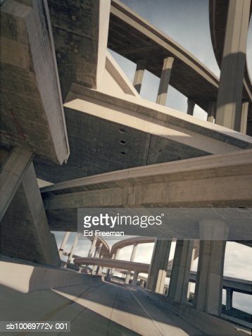 Freeways, low angle view : Stock Photo