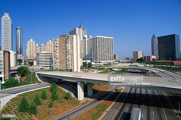 Freeways running through Atlanta