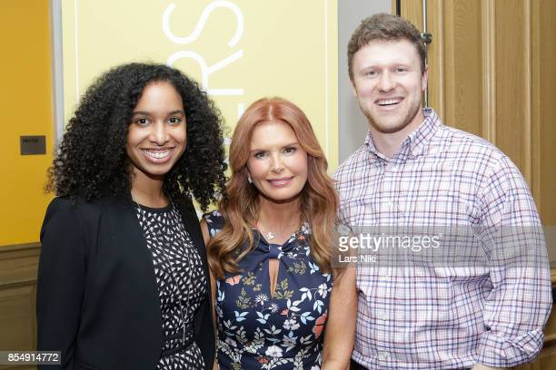 FreeWheel account manager Cheyenne Kinch LightWorkers Media President Roma Downey and FreeWheel strategic accounts director Greg Bel attend the...