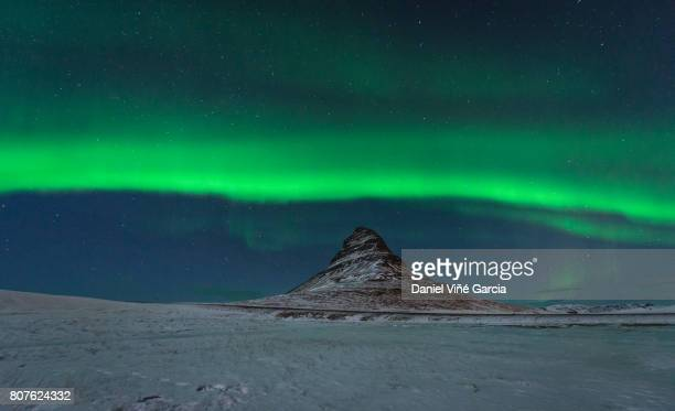 Freezing Kirkjufell and Aurora Storm at kp6