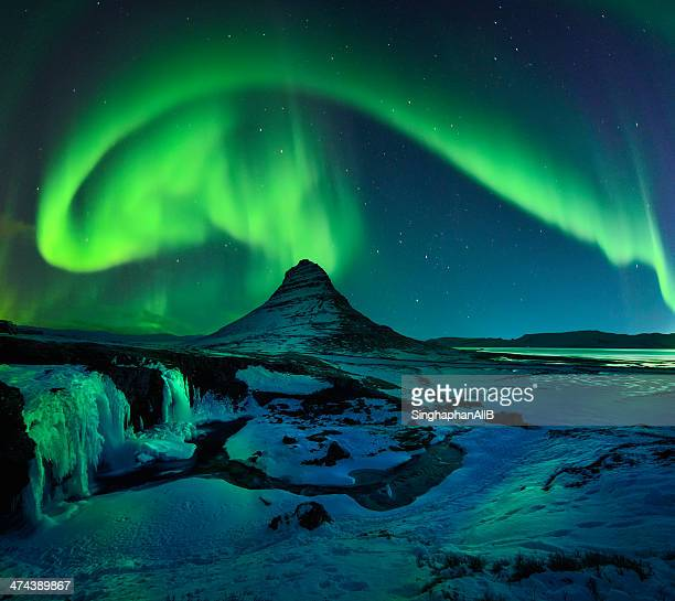 Freezing Kirkjufell and Aurora Storm