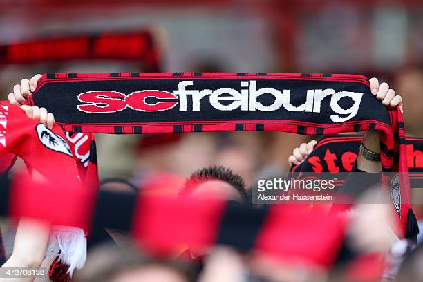 Freiburg supporters celebrate prior to the Bundesliga match between Sport Club Freiburg and FC Bayern Muenchen at SchwarzwaldStadion on May 16 2015...