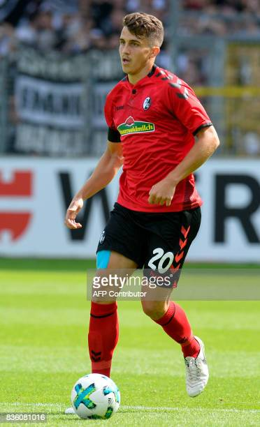 Freiburg's defender MarcOliver Kempf controls the ball during the German First division Bundesliga football match SC Freiburg v Eintracht Frankfurt...