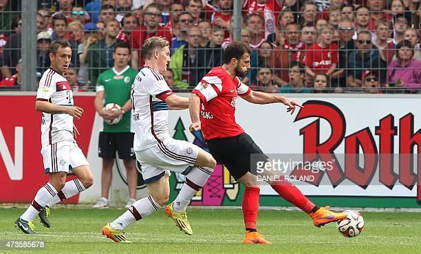 Freiburg's Swiss forward Admir Mehmedi scores the 11 during the German first division Bundesliga football match SC Freiburg vs FC Bayern Munich in...