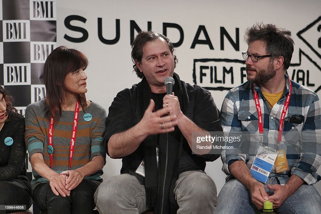 Freida Lee Mock, Marco D'Ambrosio and Jacob Kornbluth attend the BMI Roundtable at Sundance House on January 23, 2013 in Park City, Utah.