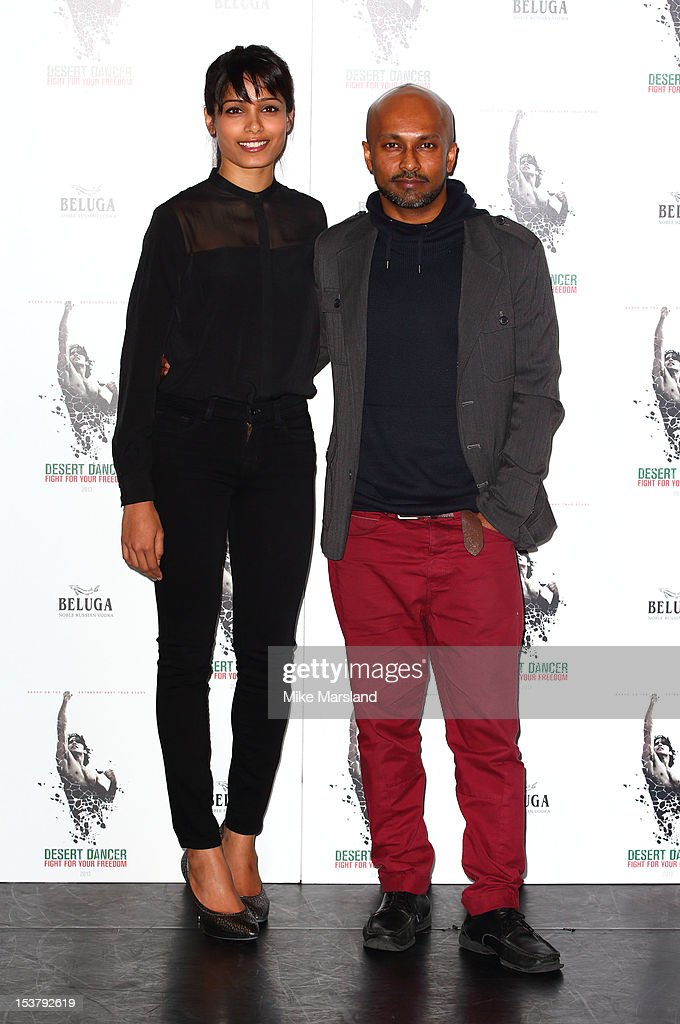 <a gi-track='captionPersonalityLinkClicked' href=/galleries/search?phrase=Freida+Pinto&family=editorial&specificpeople=5518973 ng-click='$event.stopPropagation()'>Freida Pinto</a> and choreographer Akram Khan attend a photocall for 'Desert Dancer' at Sadler's Wells Theatre on October 9, 2012 in London, England.