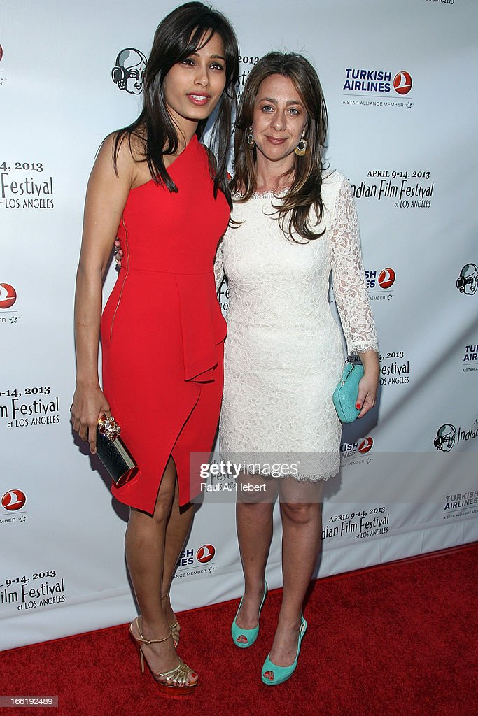 Freida Pinto (L) and Christina Marouda attend the Indian Film Festival Of Los Angeles (IFFLA) Opening Night Gala For 'Gangs Of Wasseypur' on April 9, 2013 in Hollywood, California.