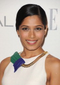 Freida Pinto arrives at ELLE's 18th Annual Women in Hollywood Tribute held at the Four Seasons Hotel on October 17 2011 in Los Angeles California