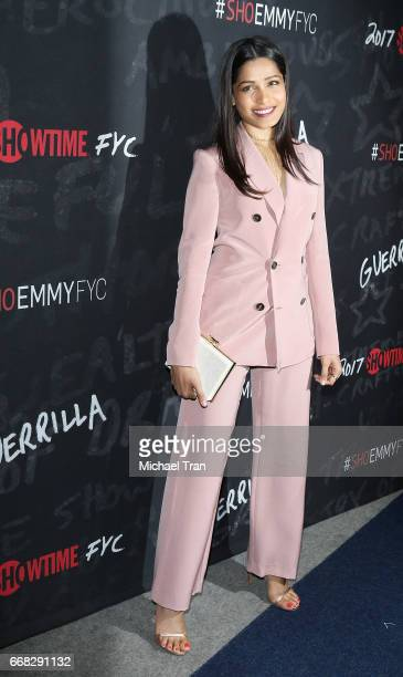 Freida Pinto arrvies at Showtime's 'Guerrilla' FYC event held at The WGA Theater on April 13 2017 in Beverly Hills California