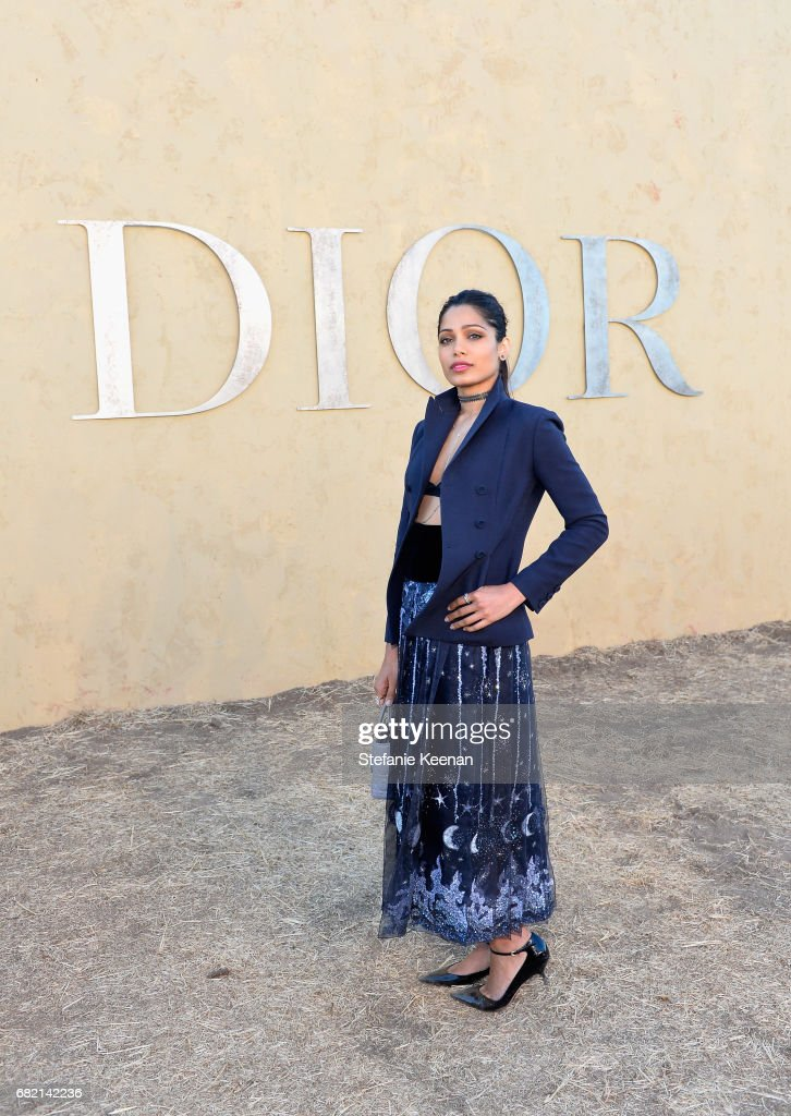 Freida Pinto at Christian Dior Cruise 2018 Show and After Party at Gladstone's Malibu on May 11, 2017 in Malibu, California.
