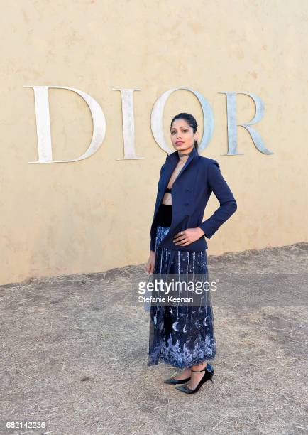 Freida Pinto at Christian Dior Cruise 2018 Show and After Party at Gladstone's Malibu on May 11 2017 in Malibu California