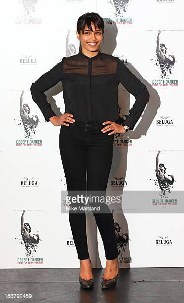 Freida Pinto attends a photocall for 'Desert Dancer' at Sadler's Wells Theatre on October 9 2012 in London England
