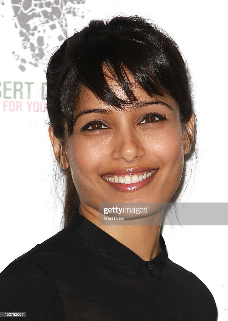 <a gi-track='captionPersonalityLinkClicked' href=/galleries/search?phrase=Freida+Pinto&family=editorial&specificpeople=5518973 ng-click='$event.stopPropagation()'>Freida Pinto</a> attends a photocall for 'Desert Dancer' at Sadler's Wells Theatre on October 9, 2012 in London, England.