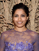 Freida Pinto attends a special screening of Relativity Studio's 'Desert Dancer' after party at Baccarat Hotel on April 7 2015 in New York City