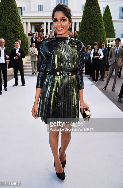 Freida Pinto attends amfAR's Cinema Against AIDS Gala during the 64th Annual Cannes Film Festival at Hotel Du Cap on May 19 2011 in Antibes France