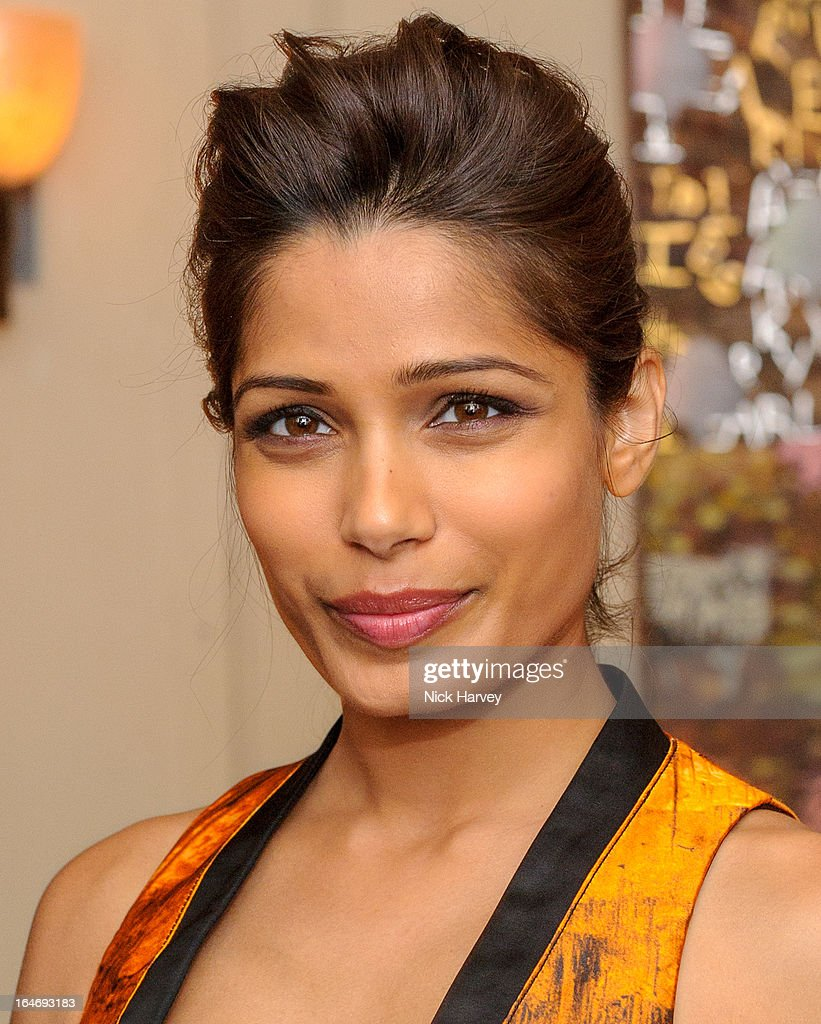 Freida Pinto attends as Net-A-Porter host a private dinner to celebrate the launch of the Proenza Schouler excluisve capsule collection on March 26, 2013 in London, England.