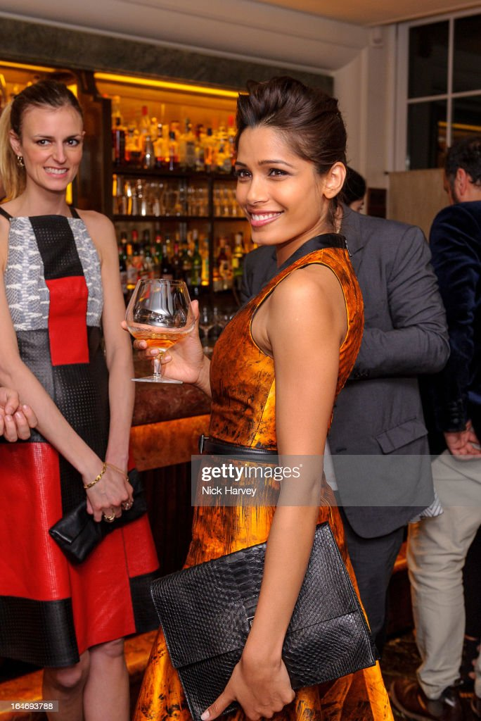 Freida Pinto attends as Net-A-Porter host private dinner to celebrate the launch of the Proenza Schouler excluisve capsule collection on March 26, 2013 in London, England.