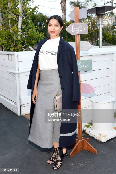 Freida Pinto attends Christian Dior Cruise 2018 Welcome Dinner at Gladstone's Malibu on May 10 2017 in Malibu California