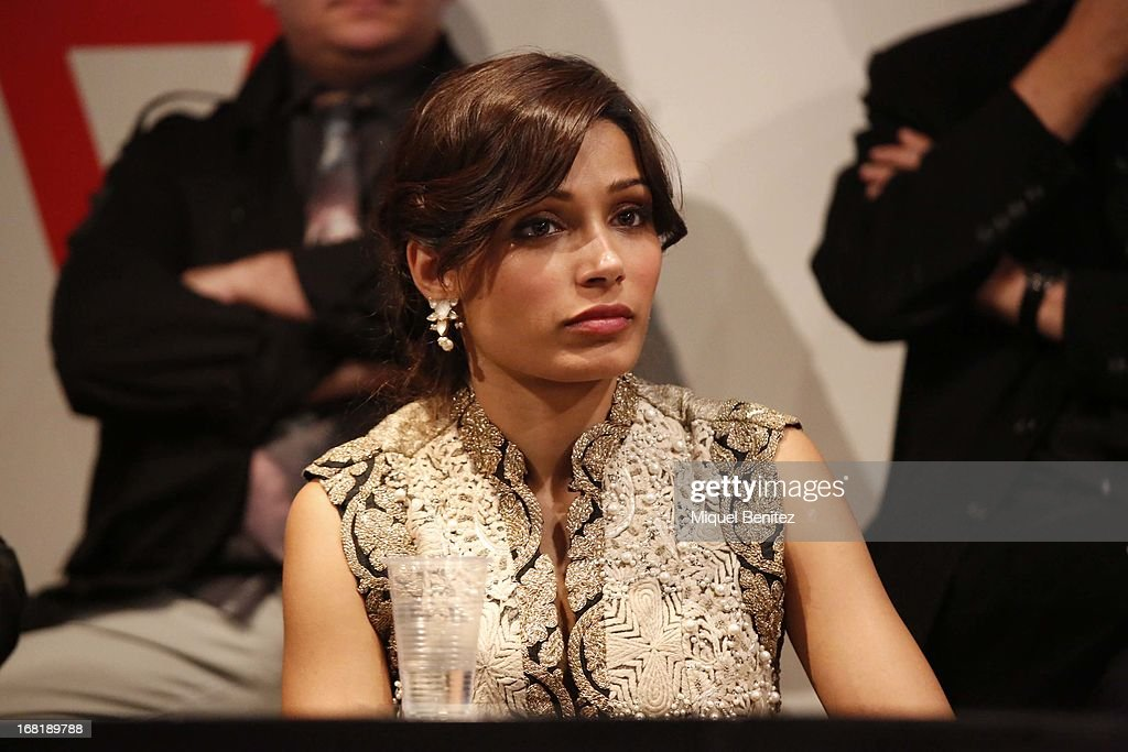 <a gi-track='captionPersonalityLinkClicked' href=/galleries/search?phrase=Freida+Pinto&family=editorial&specificpeople=5518973 ng-click='$event.stopPropagation()'>Freida Pinto</a> attends 'El Somni', 'The Dream' Gastronimic Opera Performanceon May 6, 2013 in Barcelona, Spain.