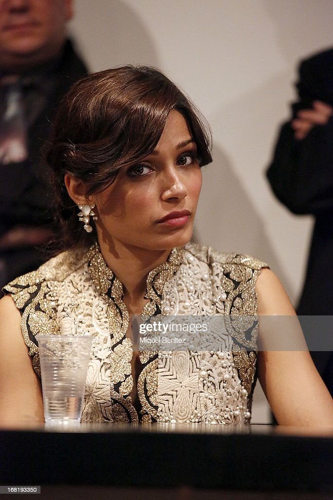 Freida Pinto attends 'El Somni', 'The Dream' Gastronimic Opera Performance on May 6, 2013 in Barcelona, Spain.