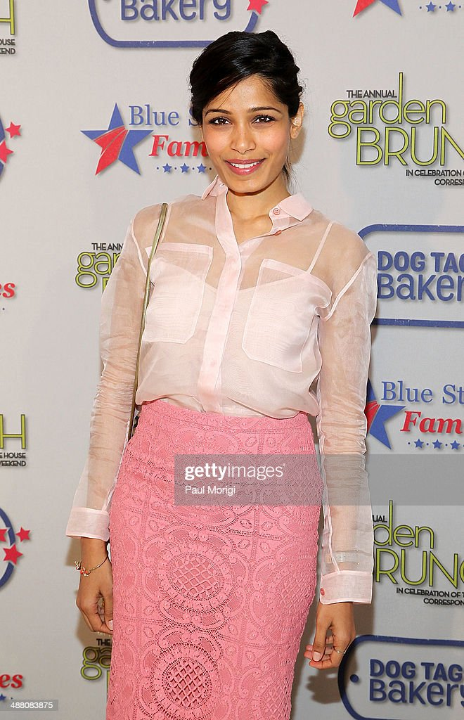<a gi-track='captionPersonalityLinkClicked' href=/galleries/search?phrase=Freida+Pinto&family=editorial&specificpeople=5518973 ng-click='$event.stopPropagation()'>Freida Pinto</a> attends the 2014 Annual Garden Brunch at the Beall-Washington House on May 3, 2014 in Washington, DC.