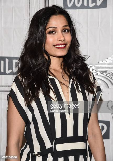 Freida Pinto attends the Build Series to discuss the Showtime miniseries 'Guerrilla' at Build Studio on April 3 2017 in New York City