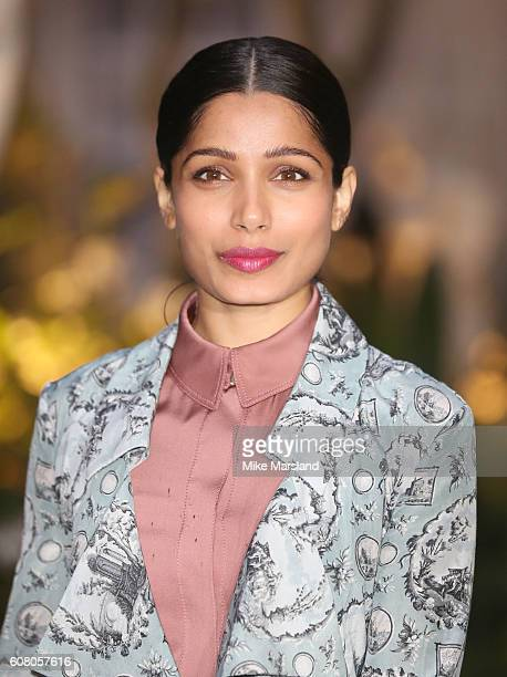 Freida Pinto attends the Burberry show during London Fashion Week Spring/Summer collections 2016/2017 on September 19 2016 in London United Kingdom