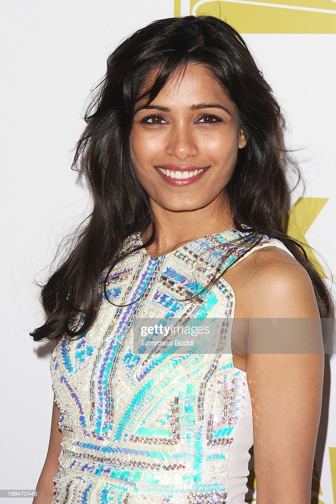 <a gi-track='captionPersonalityLinkClicked' href=/galleries/search?phrase=Freida+Pinto&family=editorial&specificpeople=5518973 ng-click='$event.stopPropagation()'>Freida Pinto</a> attends the FOX Golden Globe after party held at the FOX Pavilion at the Golden Globes on January 13, 2013 in Beverly Hills, California.