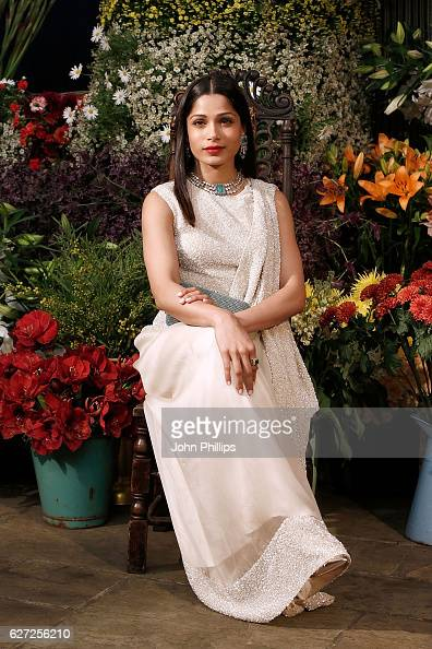 Freida Pinto attends the gala dinner as The Business of Fashion Presents VOICES on December 2 2016 in Oxfordshire England