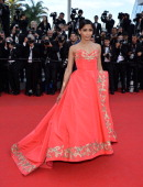 Freida Pinto attends 'The Homesman' Premiere at the 67th Annual Cannes Film Festival on May 18 2014 in Cannes France