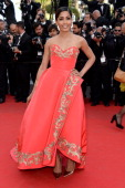 Freida Pinto attends 'The Homesman' premiere during the 67th Annual Cannes Film Festival on May 18 2014 in Cannes France
