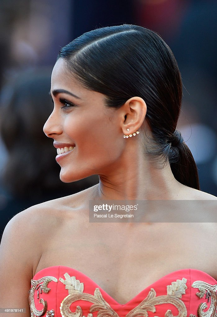 Freida Pinto attends 'The Homesman' premiere during the 67th Annual Cannes Film Festival on May 18, 2014 in Cannes, France.