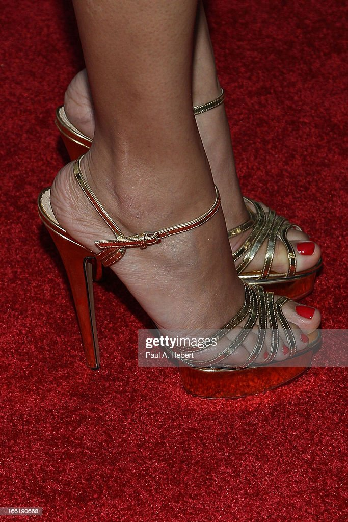Freida Pinto (shoe detail) attends the Indian Film Festival Of Los Angeles (IFFLA) Opening Night Gala For 'Gangs Of Wasseypur' on April 9, 2013 in Hollywood, California.