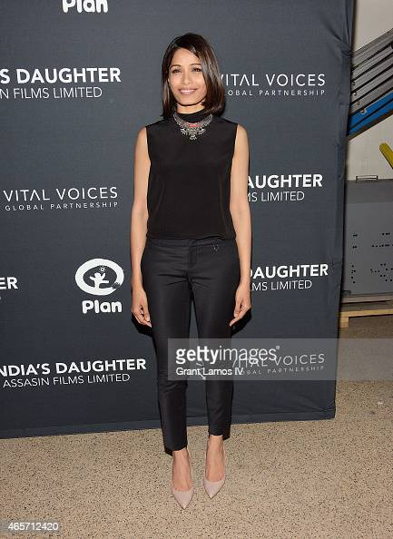 Freida Pinto attends the 'India's Daughter' New York Screening at Baruch College on March 9 2015 in New York City
