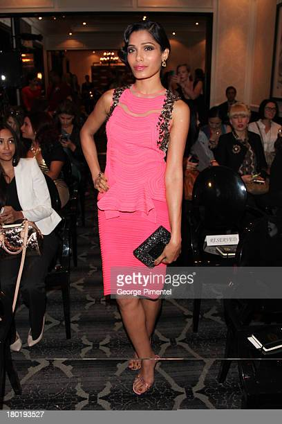 Freida Pinto Attends the L'Oreal Paris cocktail reception and product Launch at the Trump International Hotel on September 9 2013 in Toronto CanadaÊ