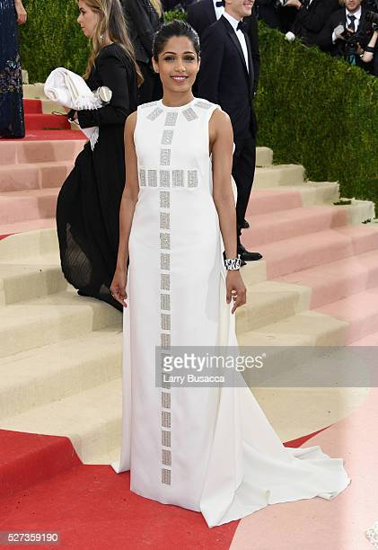 Freida Pinto attends the 'Manus x Machina Fashion In An Age Of Technology' Costume Institute Gala at Metropolitan Museum of Art on May 2 2016 in New...
