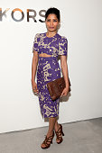 Freida Pinto attends the Michael Kors fall 2014 fashion show on February 12 2014 in New York City