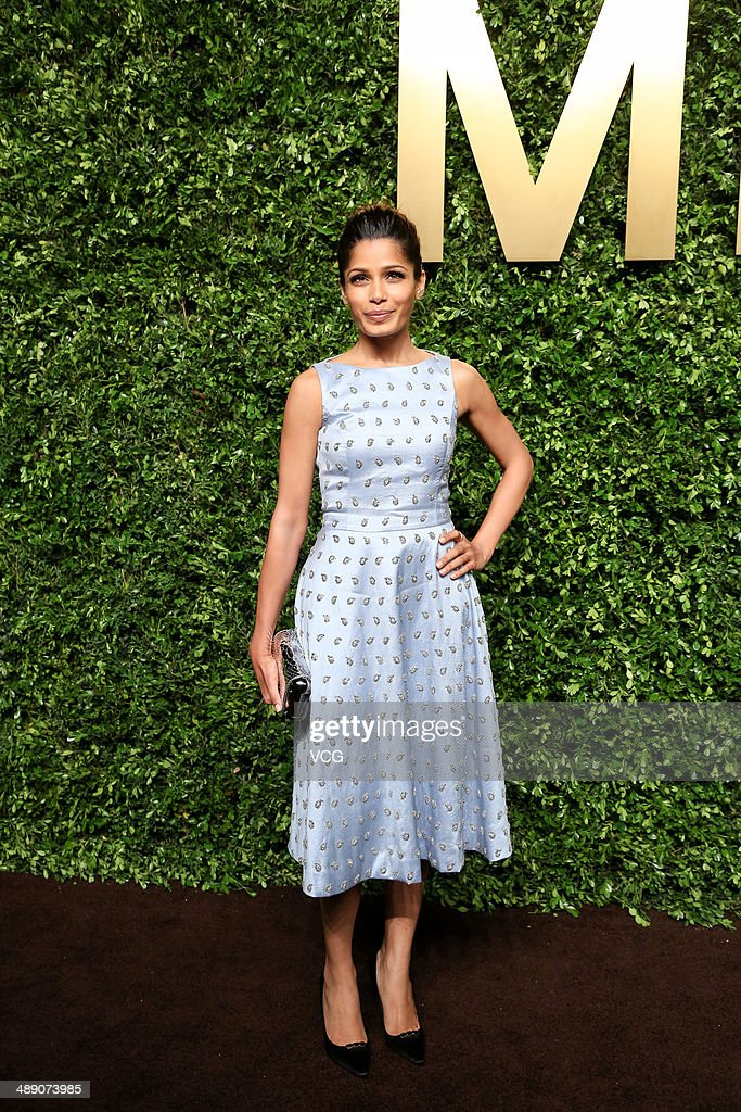<a gi-track='captionPersonalityLinkClicked' href=/galleries/search?phrase=Freida+Pinto&family=editorial&specificpeople=5518973 ng-click='$event.stopPropagation()'>Freida Pinto</a> attends the Michael Kors Jet Set Experience on May 9, 2014 in Shanghai, China.