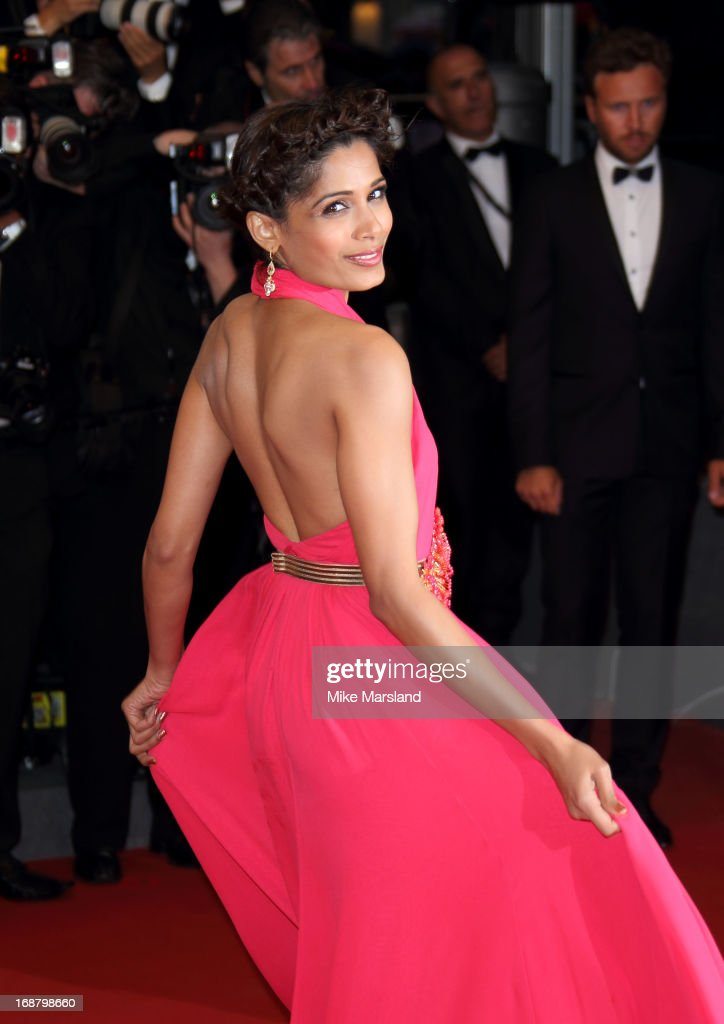 Freida Pinto attends the Opening Ceremony and Premiere of 'The Great Gatsby' at The 66th Annual Cannes Film Festival at Palais des Festivals on May 15, 2013 in Cannes, France.