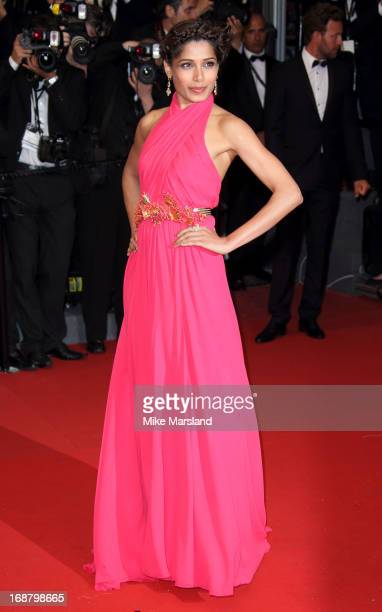 Freida Pinto attends the Opening Ceremony and Premiere of 'The Great Gatsby' at The 66th Annual Cannes Film Festival at Palais des Festivals on May...