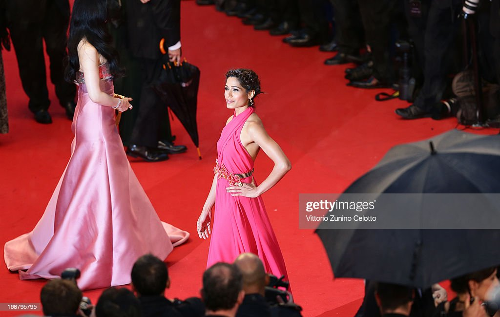 Freida Pinto attends the Opening Ceremony and 'The Great Gatsby' Premiere during the 66th Annual Cannes Film Festival at the Theatre Lumiere on May 15, 2013 in Cannes, France.