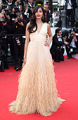 Freida Pinto attends the 'Saint Laurent' Premiere at the 67th Annual Cannes Film Festival on May 17 2014 in Cannes France