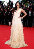 Freida Pinto attends the 'Saint Laurent' premiere during the 67th Annual Cannes Film Festival on May 17 2014 in Cannes France