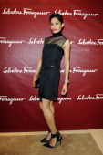 Freida Pinto attends the Salvatore Ferragamo Boutique Opening as part of Milan Fashion Week Womenswear Spring/Summer 2014 on September 20 2013 in...